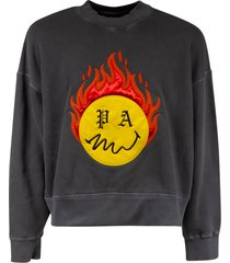 palm angels burning head crewneck sweatshirt