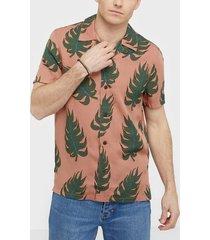 nudie jeans arvid leaf apricot skjortor apricot