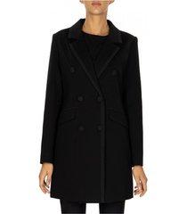blazer twin set giacca lunga doppio petto in punto milano e crepe