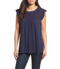 women's caslon eyelet detail baby doll top