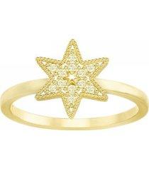 anillo field star, dorado, baño de oro