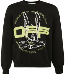 off-white harry the bunny knit crewneck sweater