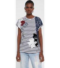 short floral sailor t-shirt - white - xl
