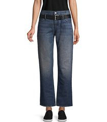 flared belted jeans