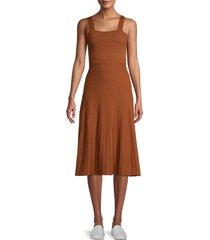 allison new york women's pleated knit dress - terracotta - size s