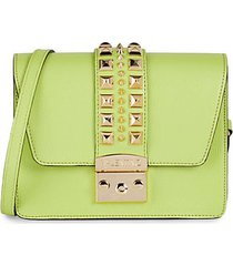 benedicte rockstud leather crossbody bag