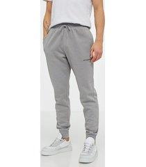 columbia m columbia logo fleece jogger byxor grey