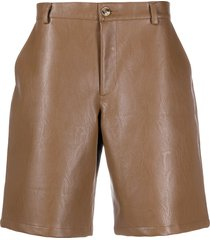 han kjøbenhavn mid-rise faux-leather shorts - brown