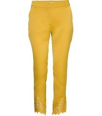 carine 818 antique lace, pants pantalon met rechte pijpen geel 2nd