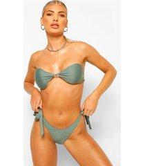 essentials geknoopte bandeau bikini top, salie