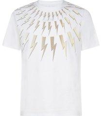 neil barrett thunder 3d print cotton t-shirt