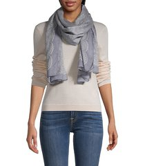 jacquard cashmere-blend scarf
