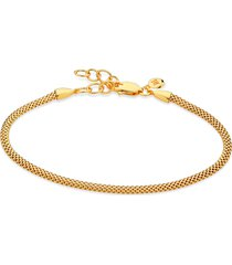 monica vinader x doina fine chain bracelet, size 7 in in yellow gold at nordstrom