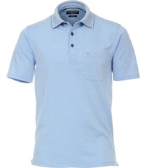 casamoda sport poloshirt faded borstzak regular fit blauw