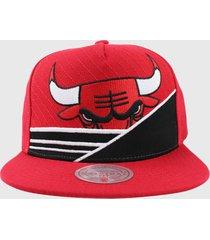 gorro nba chicago bulls if34 rojo mitchell and ness