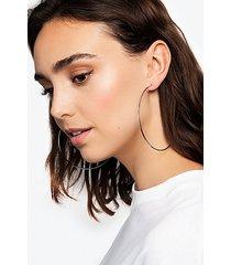 *silver large hoop earrings - silver