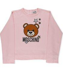 moschino starry bear cotton sweatshirt