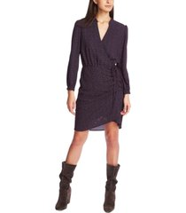 1.state printed wrap dress