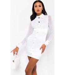 akira out west rhinestone button down mini dress