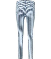 enkellange slim fit-jeans geweven strepen van day.like blauw