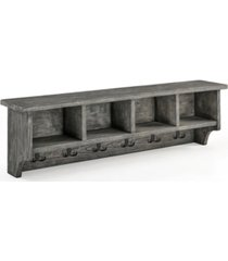 alaterre furniture pomona metal and reclaimed wood entryway coat hook with storage cubbies
