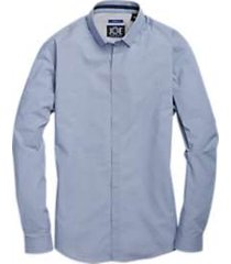 joe joseph abboud blue circle pattern sport shirt