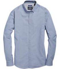 joe joseph abboud repreve® blue circle pattern sport shirt