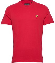 crew neck t-shirt t-shirts short-sleeved röd lyle & scott