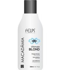 selagem térmica macadâmia ultimate blonde felps profissional 300ml