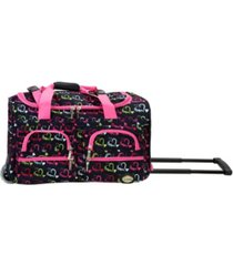 """rockland 22"""" carry-on rolling duffle bag"""