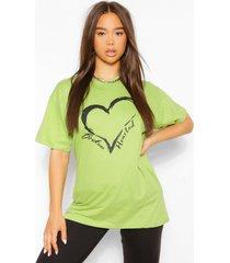 broken hearted t-shirt, pistache