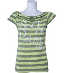 dept shirt - sea of dream - lime groen