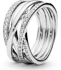 anel de prata grande brilho