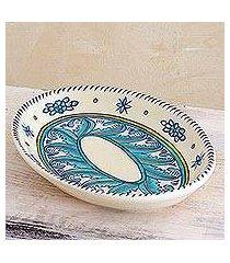 ceramic platter, 'bermuda' (guatemala)