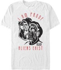 fifth sun men's i am proof aliens exist alien brain short sleeve t- shirt