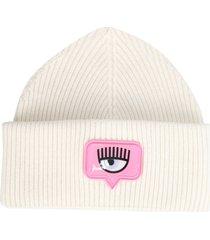chiara ferragni eyelike mixed wool hat