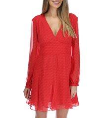 vestido corto mujer valencia rojo rockford