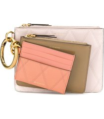 givenchy quilted pouch trio - pink