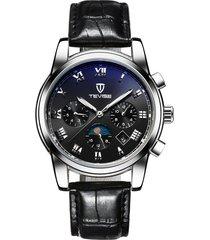 reloj mecánico de seis pines multifuncional reloj-negro