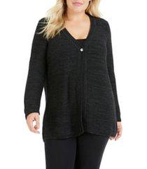 plus size women's foxcroft marcelle texture stitch cardigan