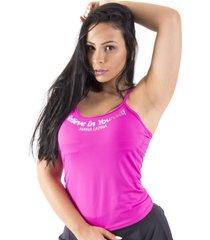 regata mama latina step rosa - rosa - feminino - poliamida - dafiti