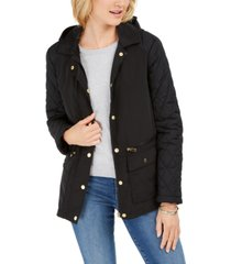 charter club quilted hooded jacket, created for macy's