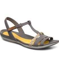 tealite grace shoes summer shoes flat sandals grå clarks