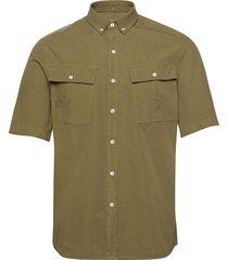 mistle shirt overhemd met korte mouwen groen forét