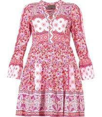 bloemenprint jurk missour  roze