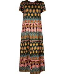 la doublej twill silk swing dress