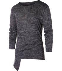 asymmetric space dye long sleeve t-shirt