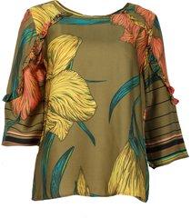10 feet blouse 860043 groen