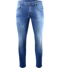 anbass hyperflex bi-stretch blue denim jeans