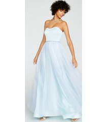 betsey johnson strapless glitter tulle gown